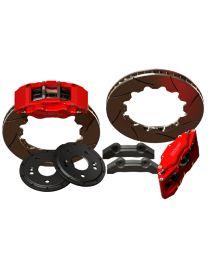 Kit gros freins avant HISPEC 335x28mm, étriers de freins 4 pistons MONSTER 4 pour BMW E34 Tous modèles inclus M5 (1988-1996)