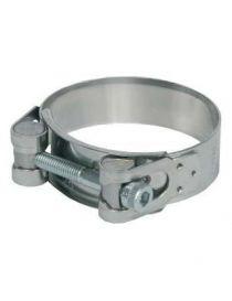 Collier renforcé diamètre 68 à 73mm en inox, largeur 25mm