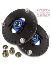 Coupelles d'amortisseurs rotulées réglables en 2 parties pour tige 18mm pour RENAULT 5 GT Turbo (LA PAIRE)
