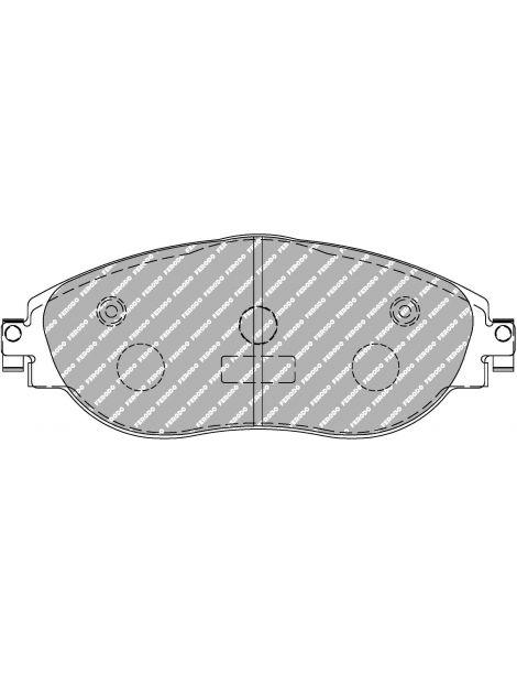 Plaquettes de frein FERODO DS2500 référence FCP4425H (le jeu)