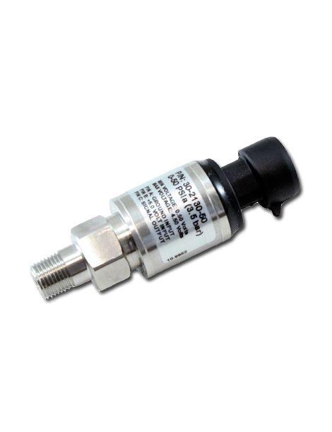 """Sonde / Capteur pression huile, essence, liquide de frein, N2O AEM 0-69 bars pour gestion / calculateur, filetage 1/8"""" NPT"""