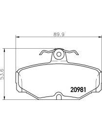 Plaquettes de frein MINTEX 1166 référence MDB1287 (le jeu)