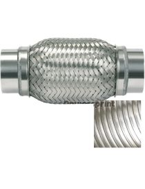 Flexible échappement inox diamètre intérieur 76mm Longueur 200mm