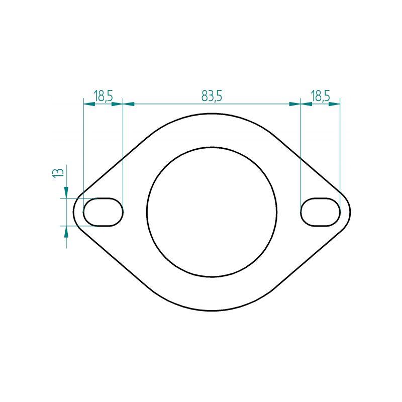 bride 2 trous inox pour tube diam tre 60mm paisseur 8mm. Black Bedroom Furniture Sets. Home Design Ideas