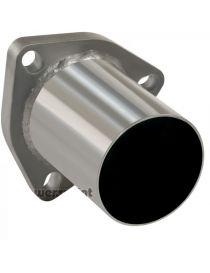 Bride 3 trous inox avec tube de connexion diamètre extérieur 45mm