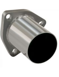Bride 3 trous inox avec tube de connexion diamètre extérieur 70mm