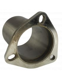 Bride 3 trous inox avec tube de connexion diamètre extérieur 76mm