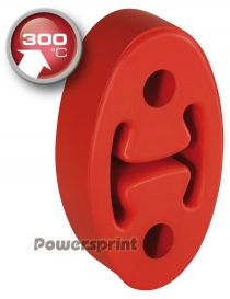 Silent bloc universel renforcé 300°C POWERSPRINT oval pour échappement, entraxe 50mm