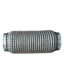 Flexible échappement inox femelle ondulé grillagé pour tube 63.5mm longueur 152mm