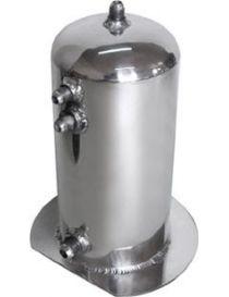 Récupérateur d'huile / Catchtank (2.5 litres) en aluminium, connexions lisses