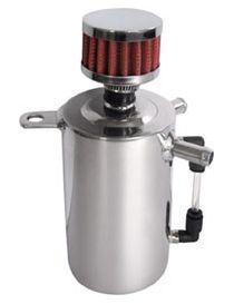 Récupérateur d'huile / Catchtank (0.5 litre) en aluminium, avec filtre
