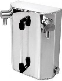 Récupérateur d'huile / Catchtank (1 litre) en aluminium, connexions lisses verticales