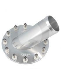 Bouchon de réservoir d'essence en aluminium avec tube de connexion à 45° diamètre 51mm