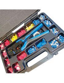 Coffret de 552 cosses électrique pré-isolées pour fils de 0.5 à 6mm2, avec pince à sertir pro