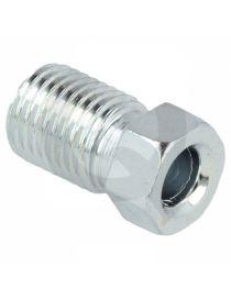 "Raccord mâle JIC 3/8""-24 (DASH3) acier longueur 18mm pour tuyau rigide"