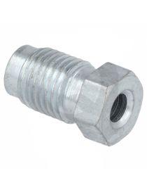"Raccord mâle JIC 7/16""-20 (DASH4) acier longueur 21.5mm pour tuyau rigide"