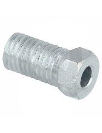 Raccord mâle M9 acier longueur 20mm pour tuyau rigide