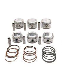 """Kit 6 pistons forgés WOSSNER RV 9.5/10:1 (montage atmo) pour PORSCHE 911 """"E"""" 2.4 1971-1973"""