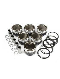 Kit 6 pistons forgés WOSSNER RV 8.8:1 (montage origine) pour BMW 325i (E30) 2.5 12V M20B25 170/171cv 09/1983-10/1993