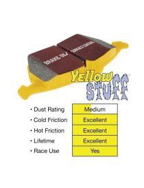 Plaquettes de frein arrière EBC Brakes Jaune / Yellowstuff (le jeu) pour ALFA ROMEO 75 V6 3.0 1989-1993