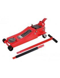 Cric hydraulique 2T surbaissé - Hauteur de levage : 75 à 495mm - Poids : 32kg