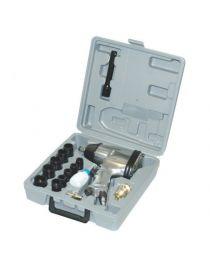 """Coffret clé à choc pneumatique 1/2"""", 17 pièces, couple de serrage : 100, 200, 280, 321Nm"""