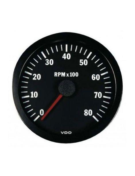Compte tours VDO 0-8000 tr/min pour moteur 4, 6, 8 cylindres essence / diesel