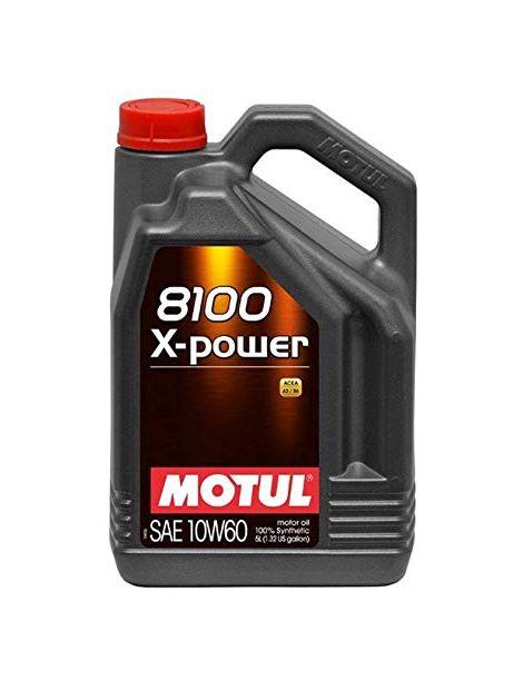 Huile moteur MOTUL 8100 X-POWER 10W60 - Bidon 5L