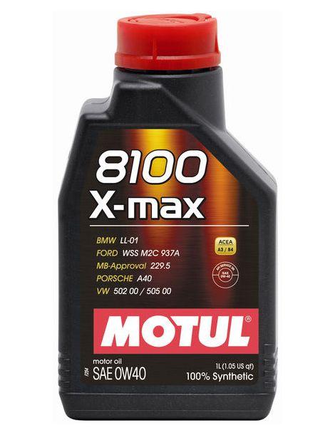 Huile moteur MOTUL 8100 X-MAX 0W40 - Bidon 1L