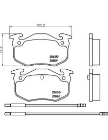 Plaquettes de frein MINTEX M1155 référence MDB1209 (le jeu)