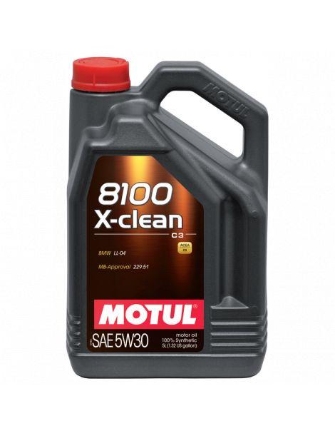 Huile moteur MOTUL 8100 X-CLEAN 5W30 - Bidon 5L