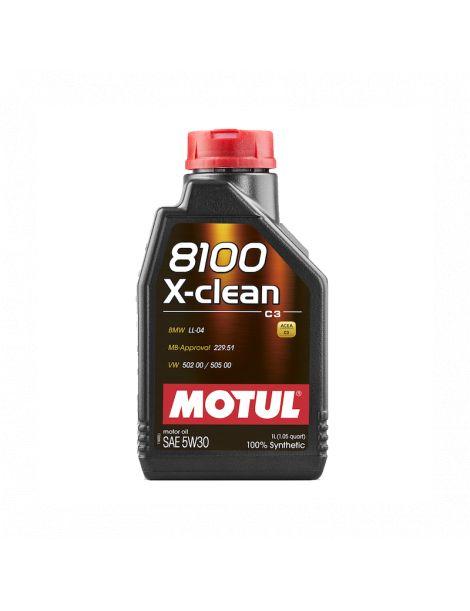 Huile moteur MOTUL 8100 X-CLEAN 5W30 - Bidon 1L