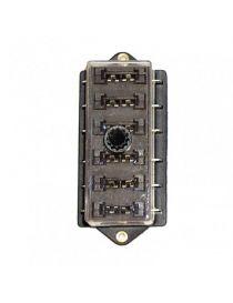 Porte fusibles 6 emplacements avec couvercle de protection et bouton de verrouillage