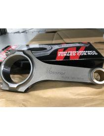 133.5 x 18 x 48.66 x 24/20mm - Bielle forgée en H WOSSNER à l'unité avec vis 3/8 ARP2000