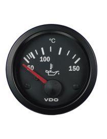 Manomètre température huile VDO 50-150°C fond NOIR