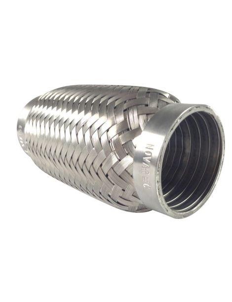 Flexible d'échappement femelle en inox pour tube de diamètre extérieur 60.3mm - longueur 152mm