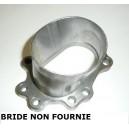 """Adaptateur oval 3"""" à souder pour bride descente GARRETT et tube 76mm"""