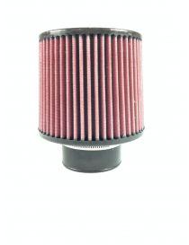 Filtre à air haut débit, connection 76mm, diamètre de base: 150mm, diamètre de tête: 130mm, longueur: 200mm