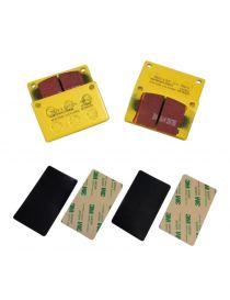 Etriers HISPEC Billet4 285 à 300mm - Plaquettes EBC Brake ® Jaune/Yellowstuff (le jeu)