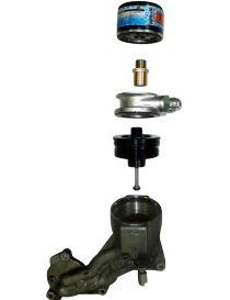 PEUGEOT 206 S16 CITROEN C2 VTS - Adaptateur kit radiateur huile/plaque sandwich MOCAL pour moteur TU5JP4