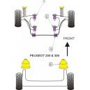 PSA 205 GTi  309 GTi 16 Kit Silent bloc Dur