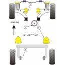 PEUGEOT 306 Kit silent bloc dur POWERFLEX
