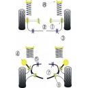 Ford Escort et Sierra Cosworth kit silent bloc dur