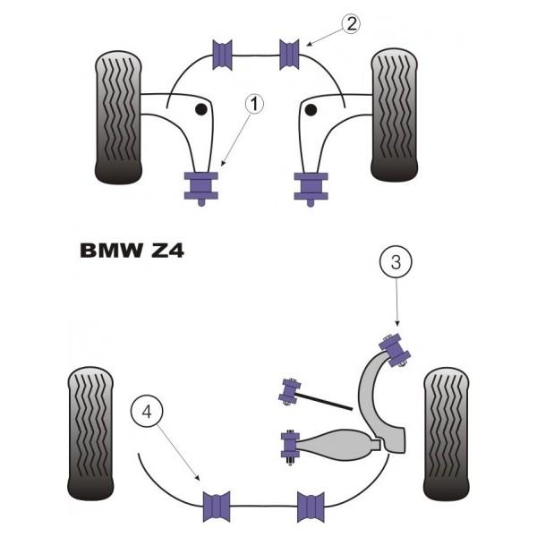 bmw z4 e85 kit silent bloc dur. Black Bedroom Furniture Sets. Home Design Ideas