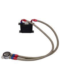 Kit radiateur huile matrice 115mm 19 rangées BREEZY DASH10, plaque thermostatique MOCAL 92°C