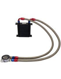 Kit radiateur huile matrice 115mm 25 rangées BREEZY DASH10, plaque thermostatique MOCAL 92°C