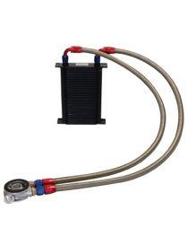 Kit radiateur huile matrice 115mm 34 rangées BREEZY DASH10, plaque thermostatique MOCAL 92°C