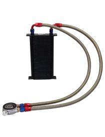 Kit radiateur huile matrice 115mm 44 rangées BREEZY DASH10, plaque thermostatique MOCAL 92°C