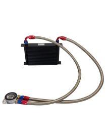 Kit radiateur huile matrice 235mm 25 rangées BREEZY DASH10, plaque thermostatique MOCAL 92°C