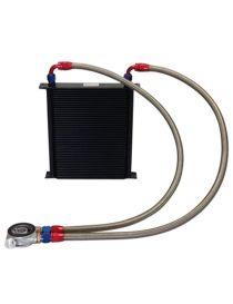 Kit radiateur huile matrice 235mm 44 rangées BREEZY DASH10, plaque thermostatique MOCAL 92°C